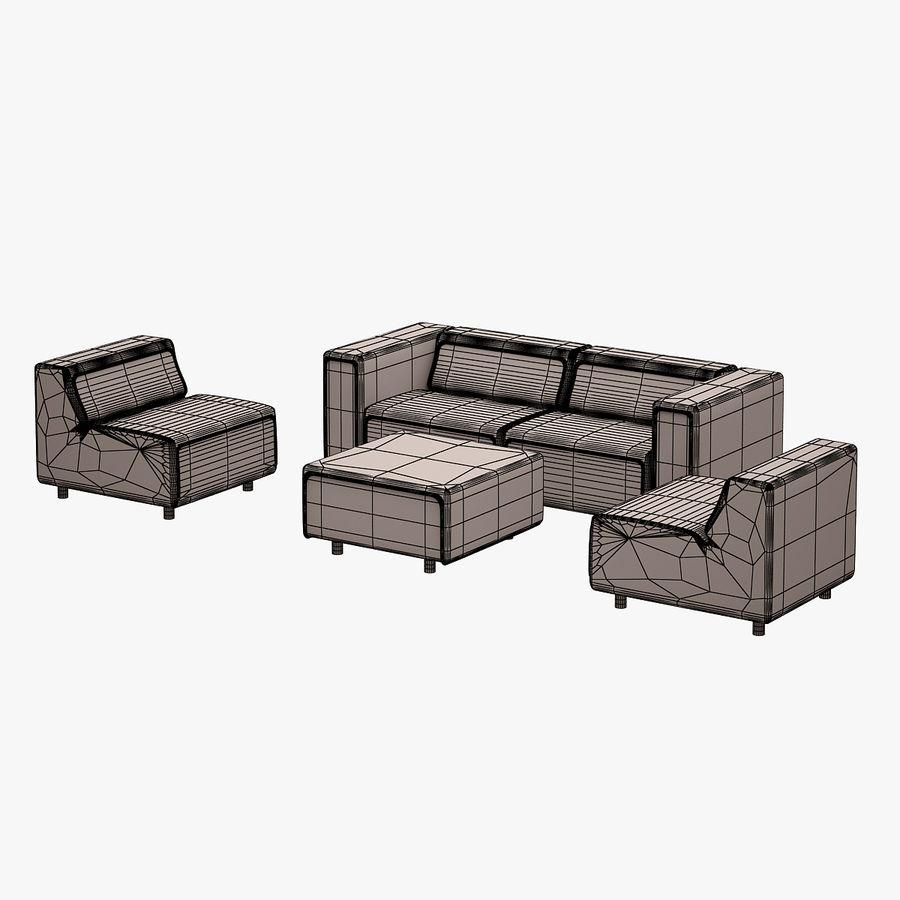 BoConcept Carmo Sofa Set royalty-free 3d model - Preview no. 14