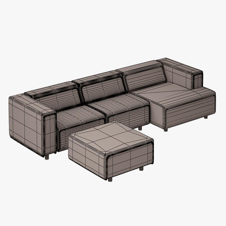 BoConcept Carmo Sofa Set royalty-free 3d model - Preview no. 11