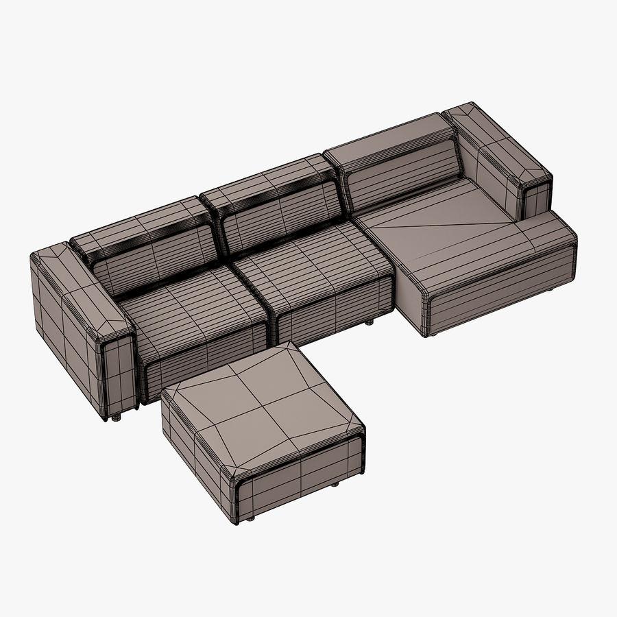 BoConcept Carmo Sofa Set royalty-free 3d model - Preview no. 17