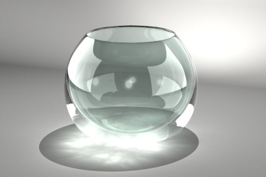 Round Glass Vase royalty-free 3d model - Preview no. 5