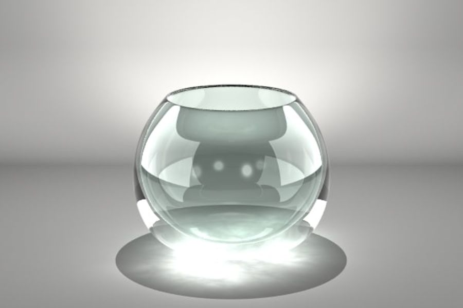 Round Glass Vase royalty-free 3d model - Preview no. 4