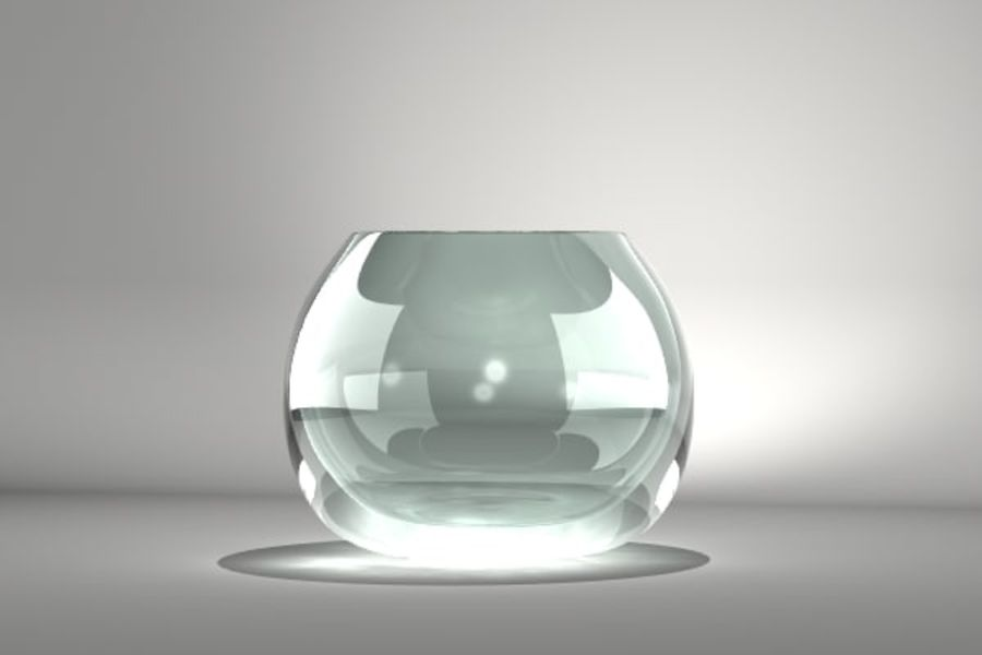 Round Glass Vase royalty-free 3d model - Preview no. 2