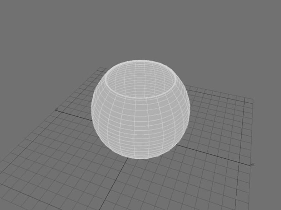 Round Glass Vase royalty-free 3d model - Preview no. 7