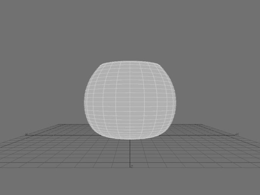 Round Glass Vase royalty-free 3d model - Preview no. 6