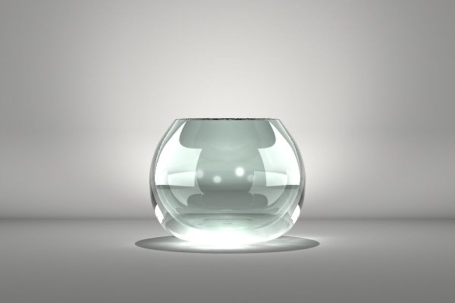 Round Glass Vase royalty-free 3d model - Preview no. 1