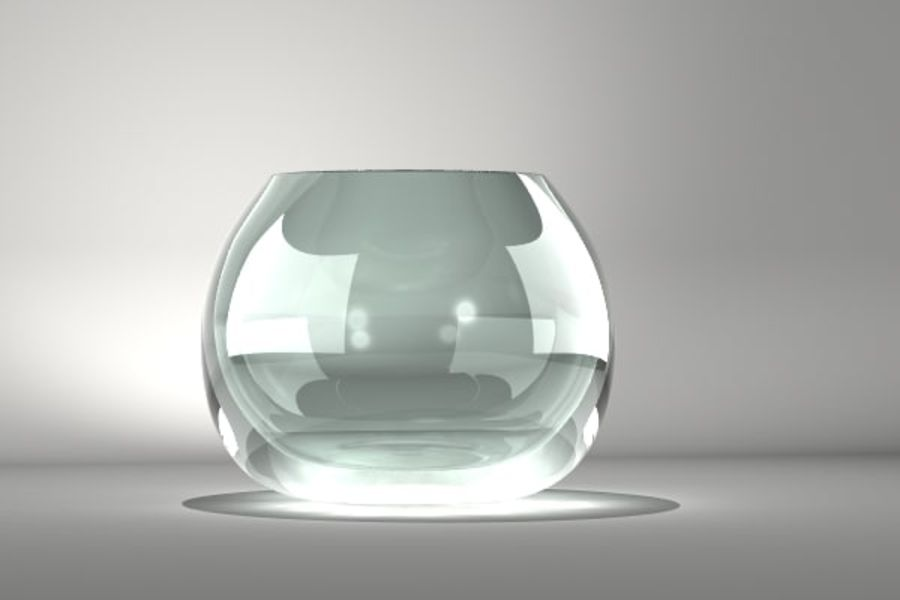 Round Glass Vase royalty-free 3d model - Preview no. 3