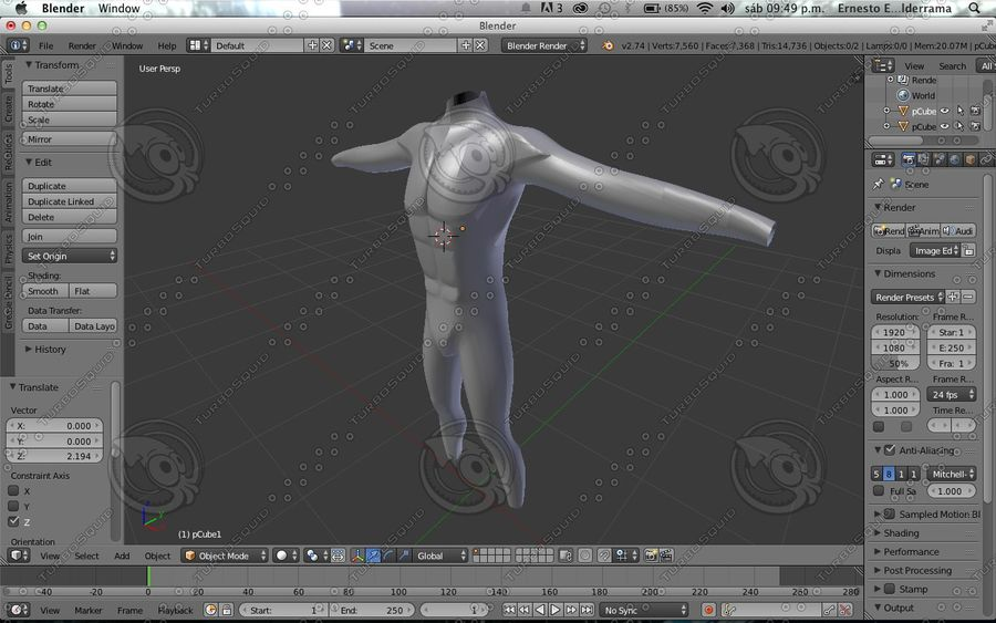 Cuerpo royalty-free modelo 3d - Preview no. 5