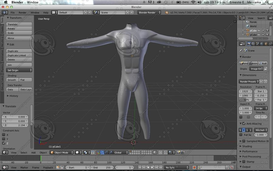 Cuerpo royalty-free modelo 3d - Preview no. 1