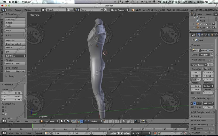 Cuerpo royalty-free modelo 3d - Preview no. 4