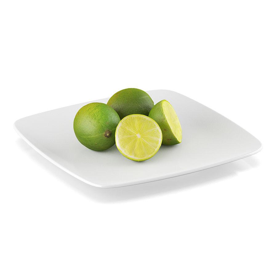 Limoen fruit royalty-free 3d model - Preview no. 1