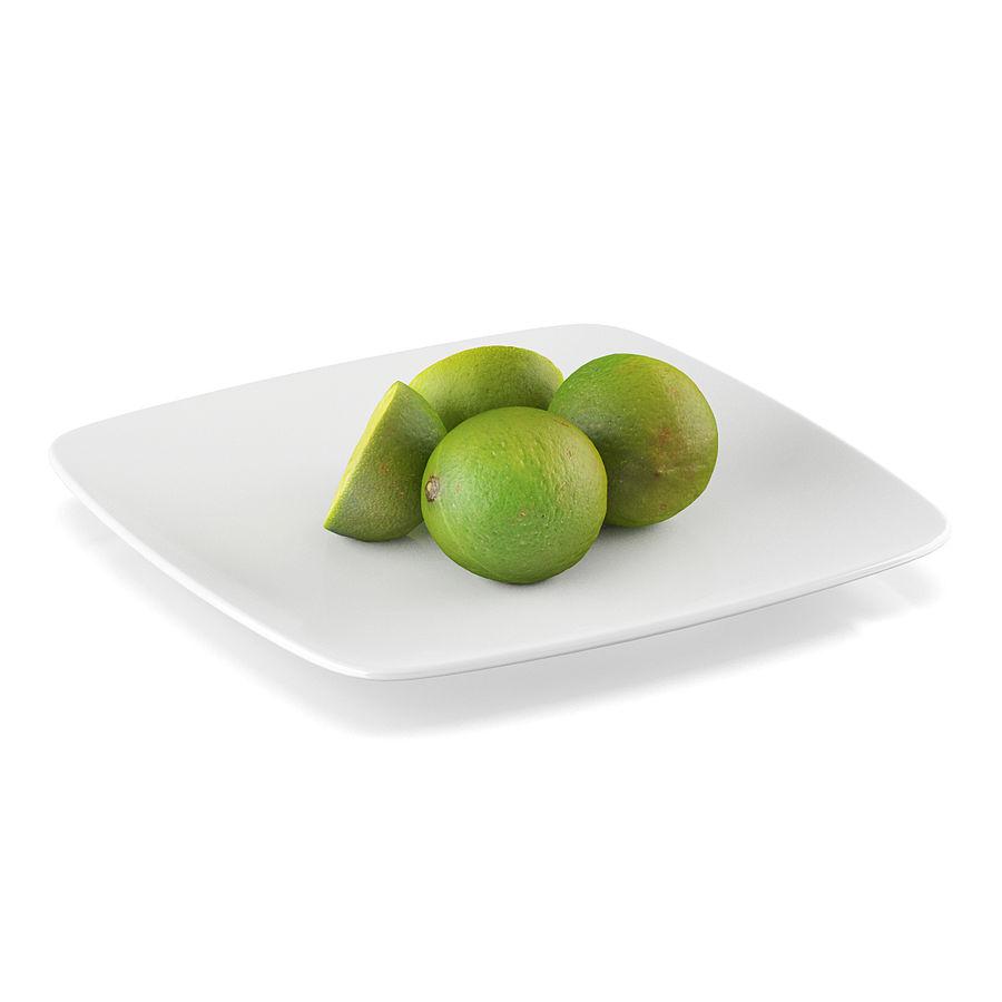 Limoen fruit royalty-free 3d model - Preview no. 3