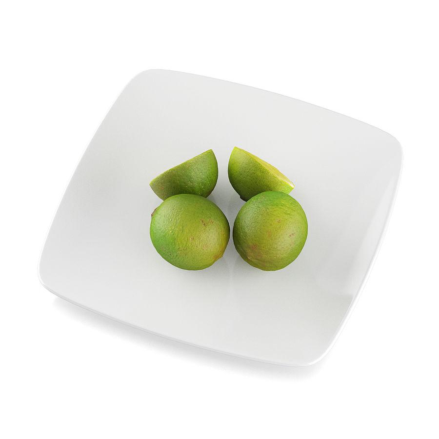 Limoen fruit royalty-free 3d model - Preview no. 7