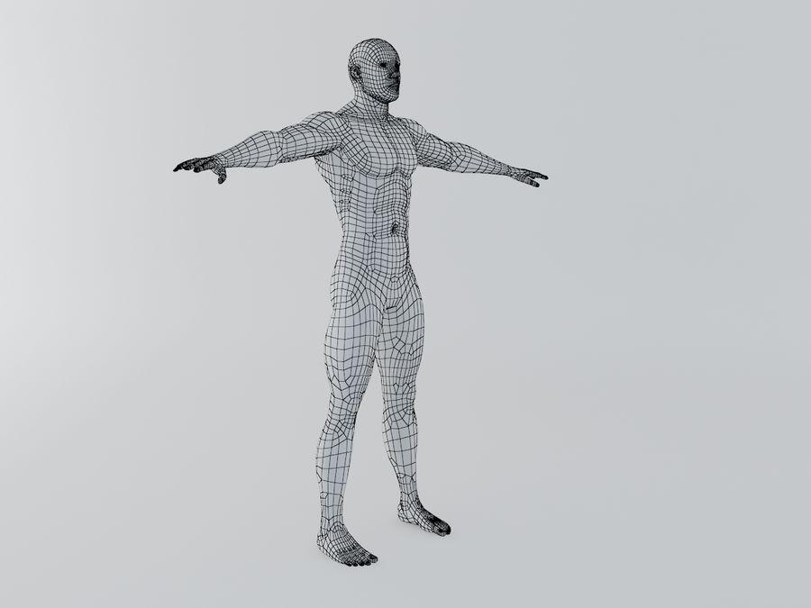 Man body royalty-free 3d model - Preview no. 6