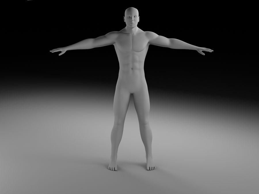 Man body royalty-free 3d model - Preview no. 2
