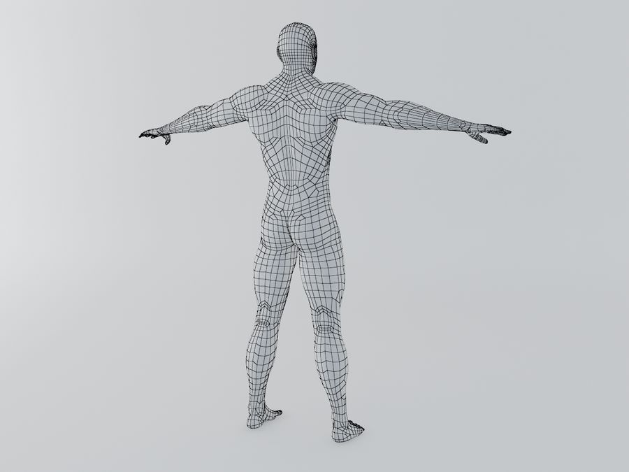 Man body royalty-free 3d model - Preview no. 7