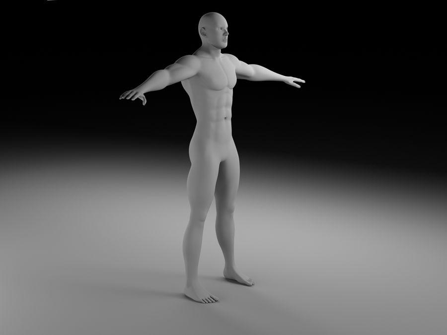 Man body royalty-free 3d model - Preview no. 1