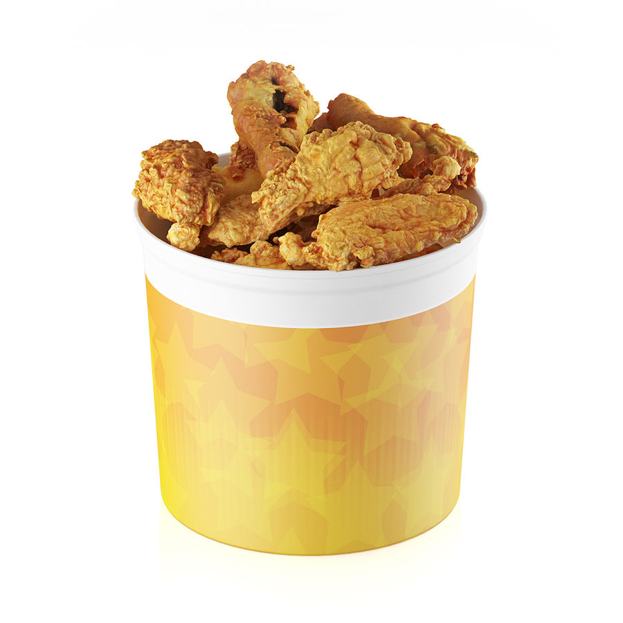 Fried chicken bucket royalty-free 3d model - Preview no. 1