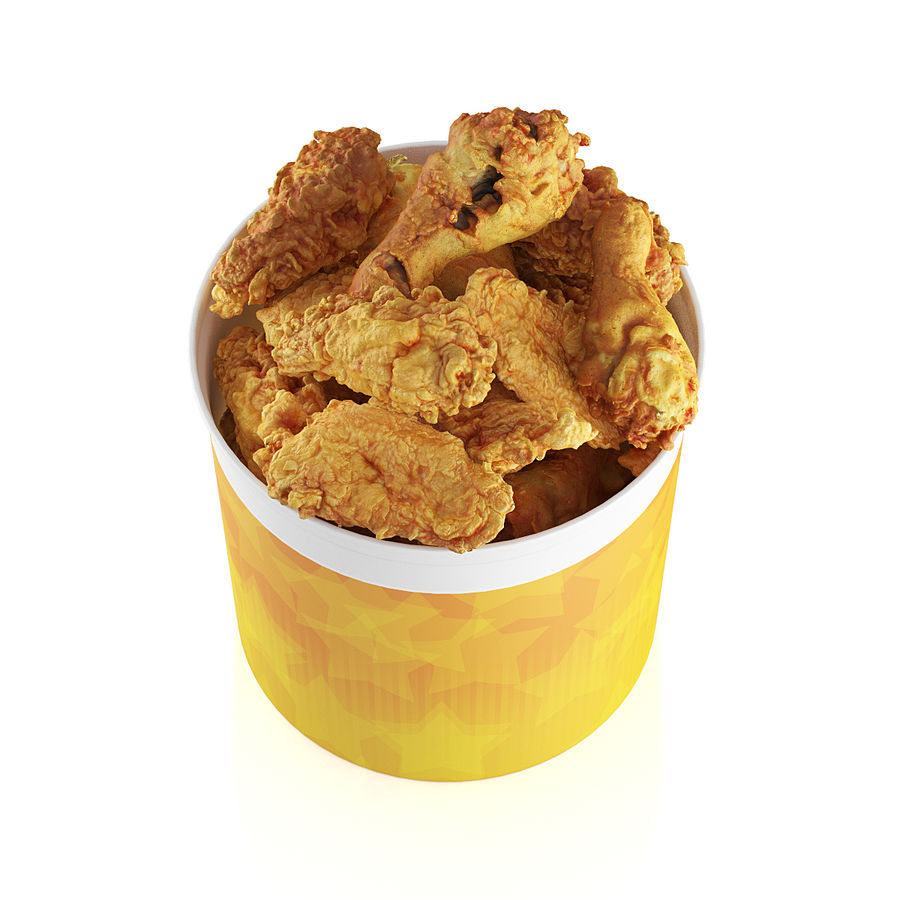 Fried chicken bucket royalty-free 3d model - Preview no. 5