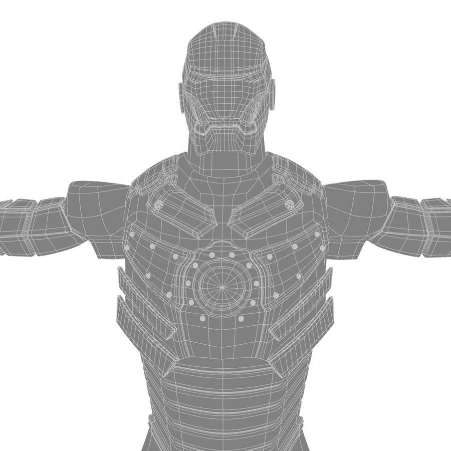 Iron Man royalty-free 3d model - Preview no. 4
