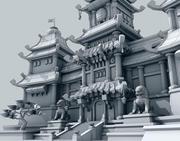 Spielbereit Fantasy Castle Lite 3d model