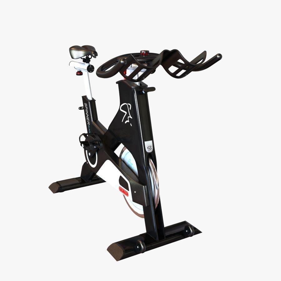Fitnessstudio stationäres Fahrrad royalty-free 3d model - Preview no. 3