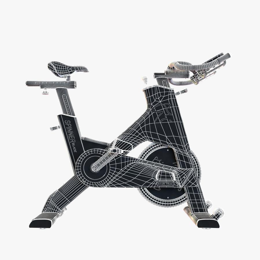 Fitnessstudio stationäres Fahrrad royalty-free 3d model - Preview no. 15