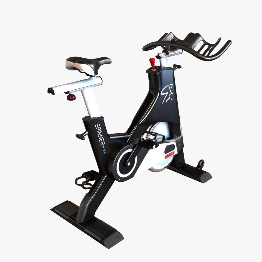 Fitnessstudio stationäres Fahrrad royalty-free 3d model - Preview no. 1