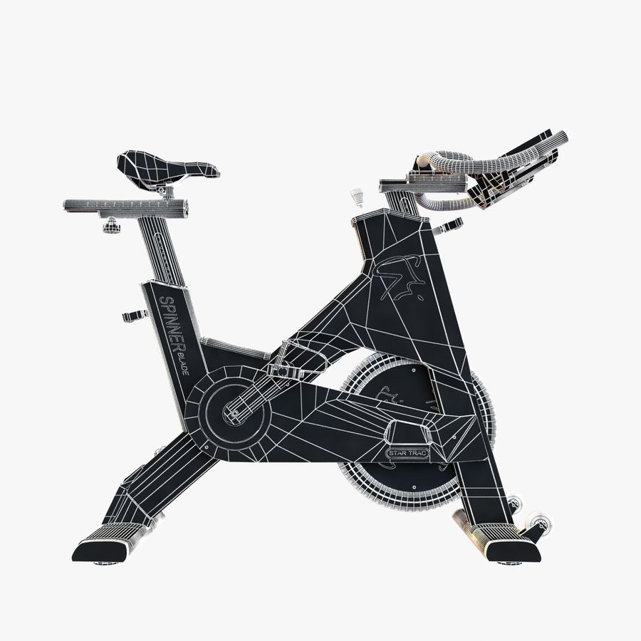 Fitnessstudio stationäres Fahrrad royalty-free 3d model - Preview no. 14