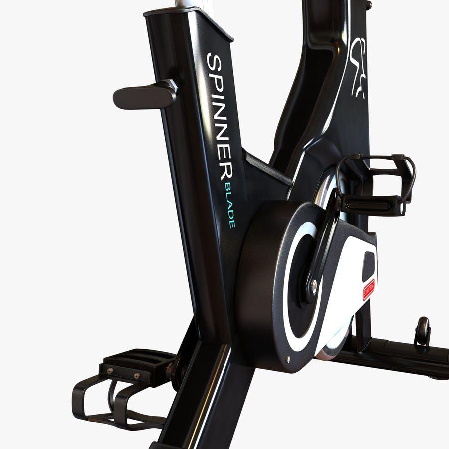 Fitnessstudio stationäres Fahrrad royalty-free 3d model - Preview no. 11