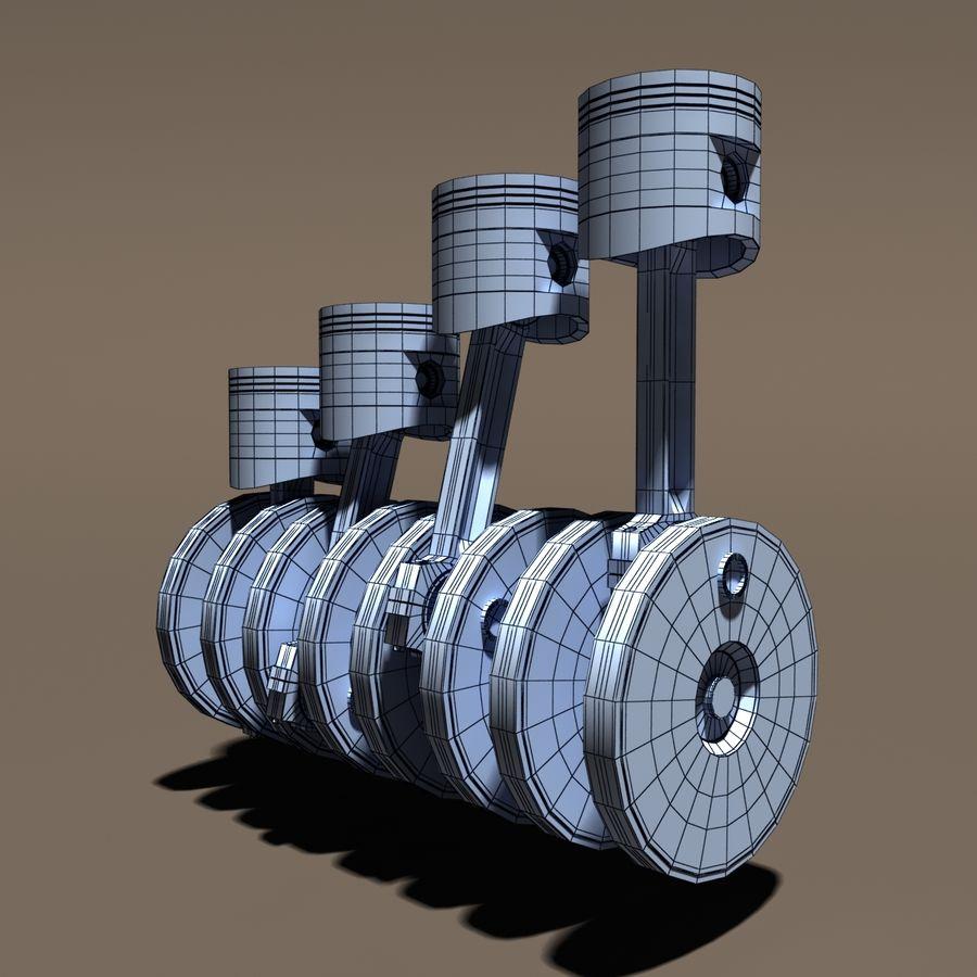 Motore a pistoni con motore royalty-free 3d model - Preview no. 7