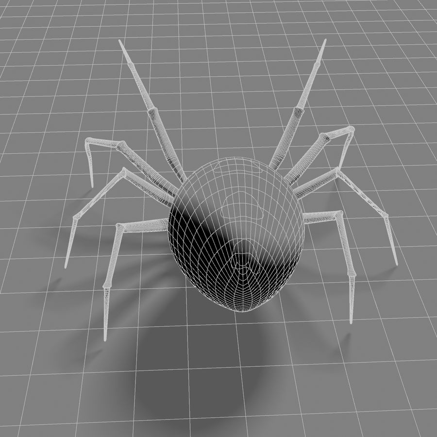 Black Widow royalty-free 3d model - Preview no. 5