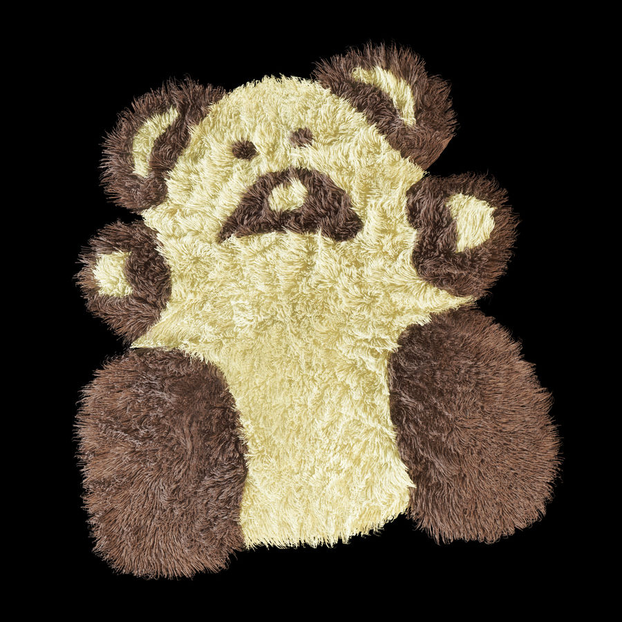 Bear carpet royalty-free 3d model - Preview no. 6