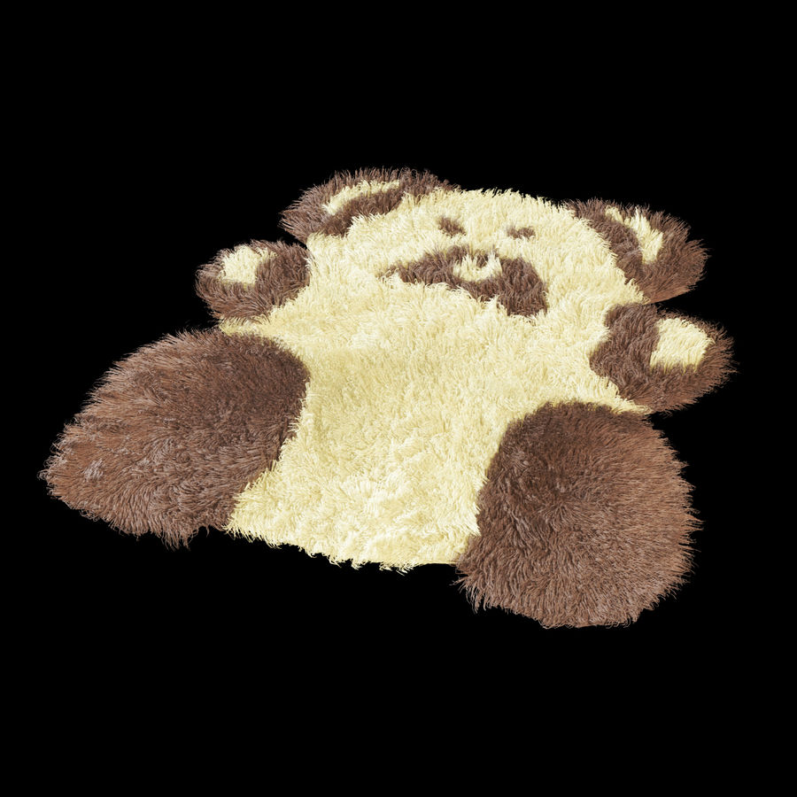 Bear carpet royalty-free 3d model - Preview no. 3