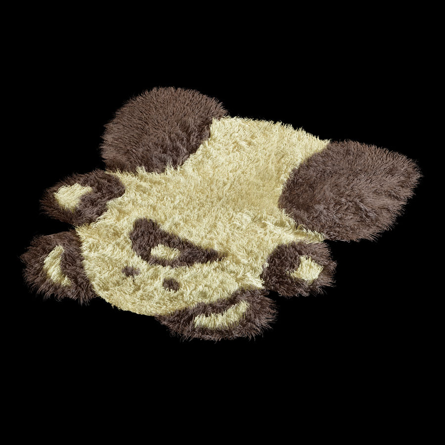 Bear carpet royalty-free 3d model - Preview no. 4