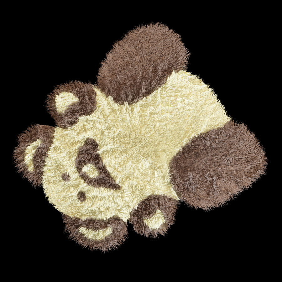 Bear carpet royalty-free 3d model - Preview no. 5