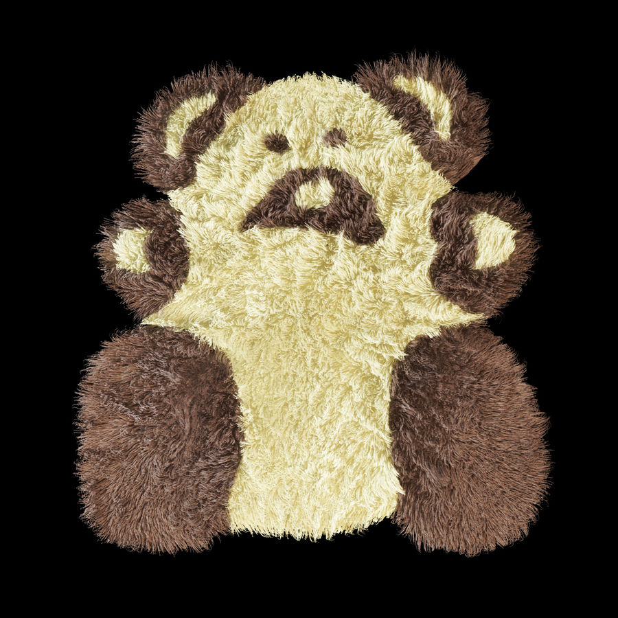 Bear carpet royalty-free 3d model - Preview no. 1