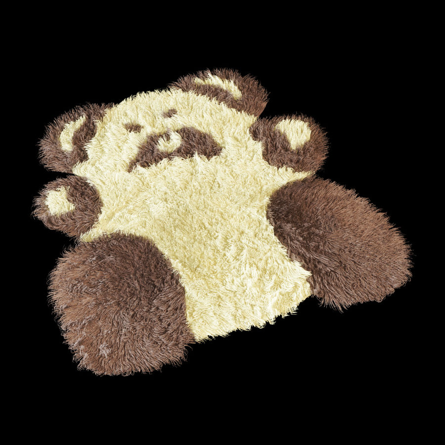 Bear carpet royalty-free 3d model - Preview no. 2