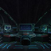 3DRT - Sci-Fi Spaceship Cockpit - 5 3d model