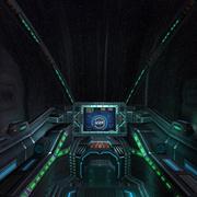 3DRT - Kokpit statku kosmicznego Sci-Fi - 6 3d model