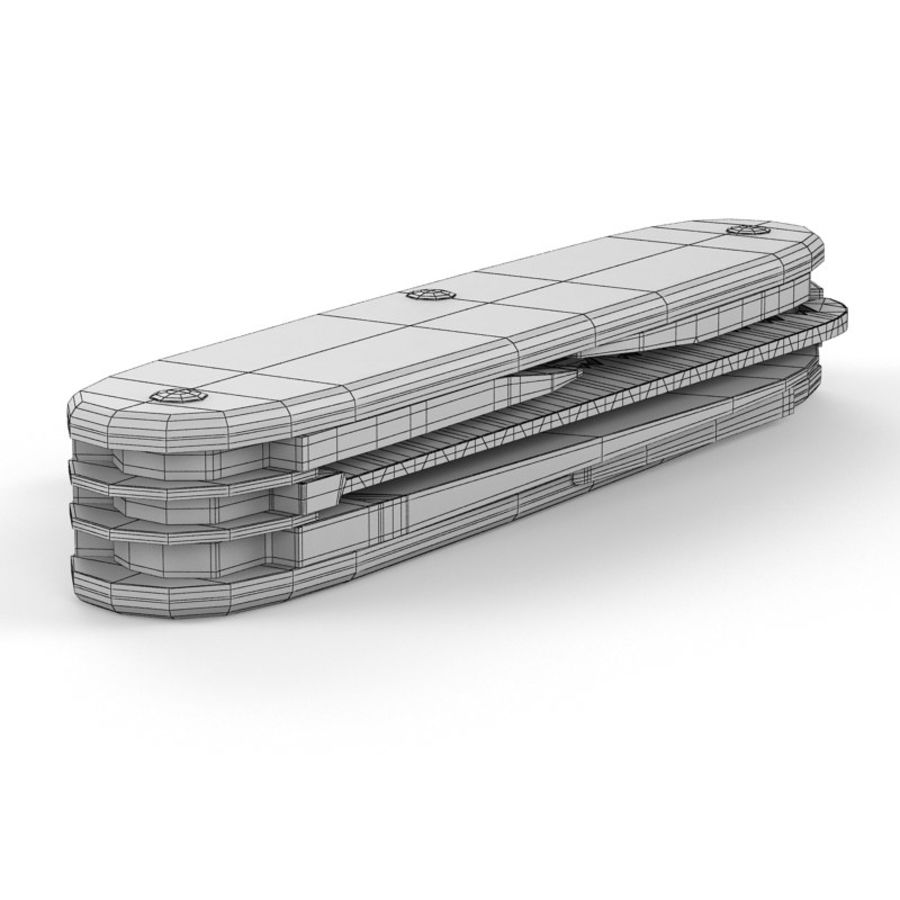 Swiss Army Knife royalty-free 3d model - Preview no. 20