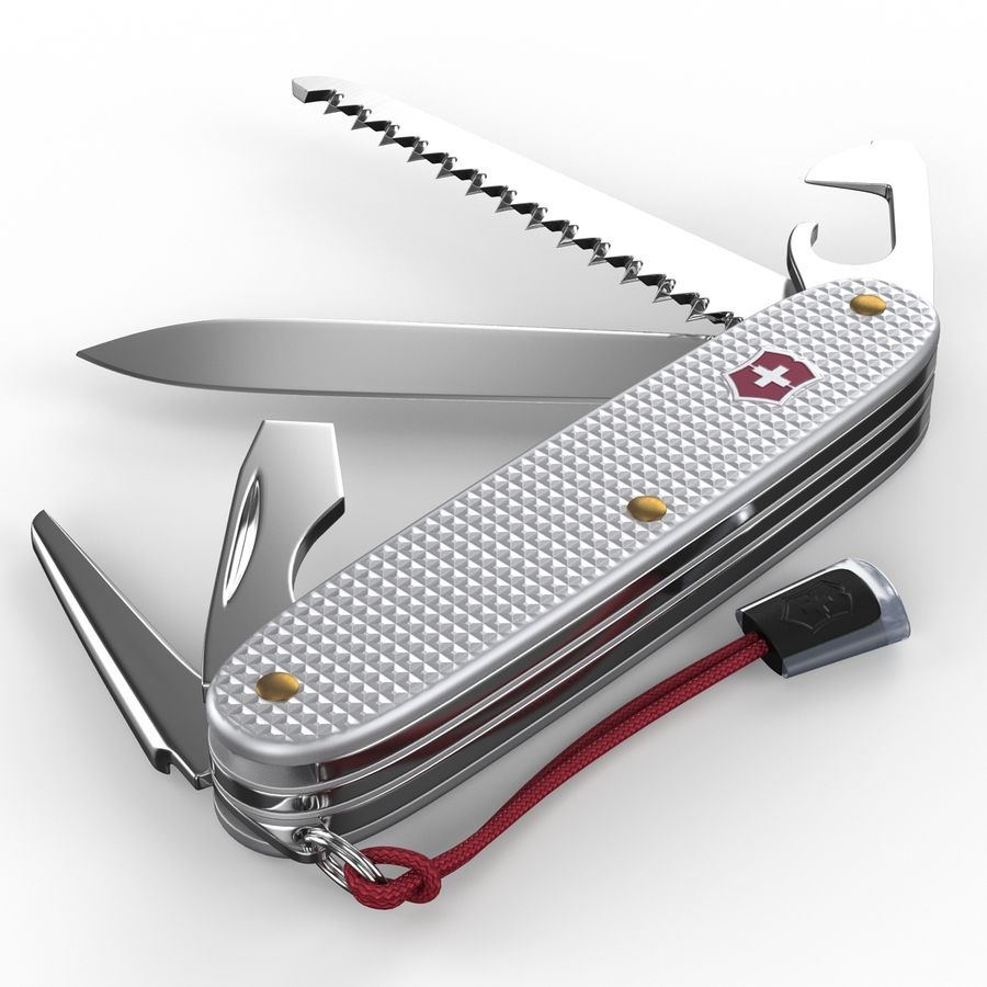 Swiss Army Knife royalty-free 3d model - Preview no. 9