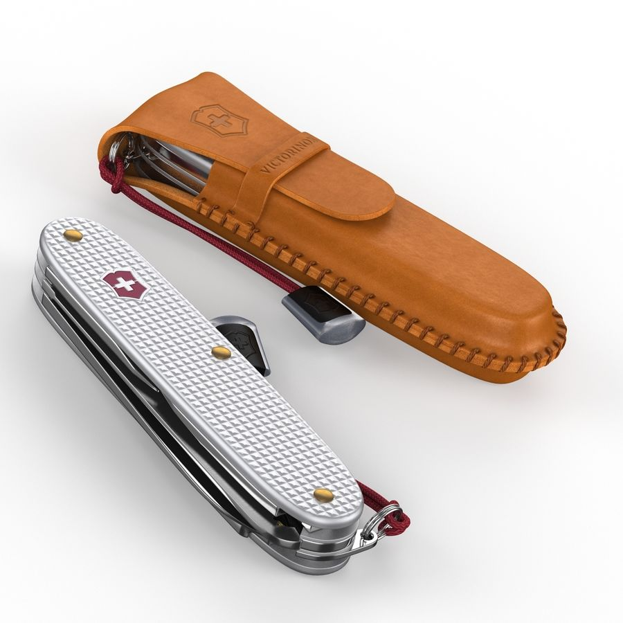 Swiss Army Knife royalty-free 3d model - Preview no. 7