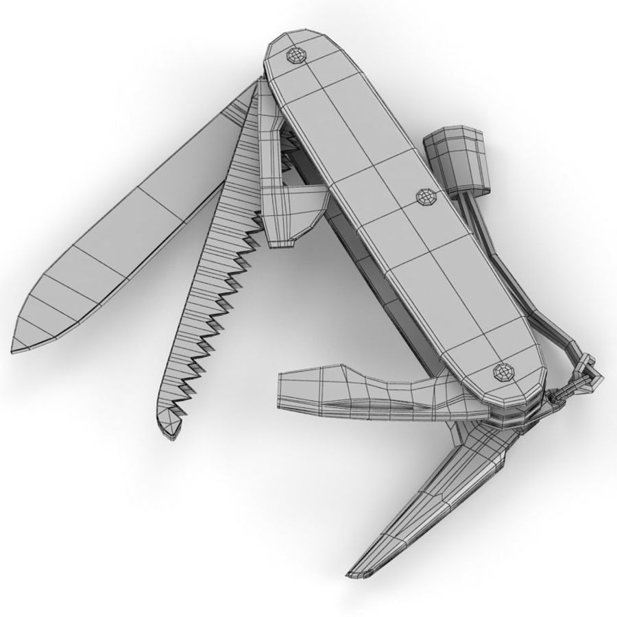 Swiss Army Knife royalty-free 3d model - Preview no. 18
