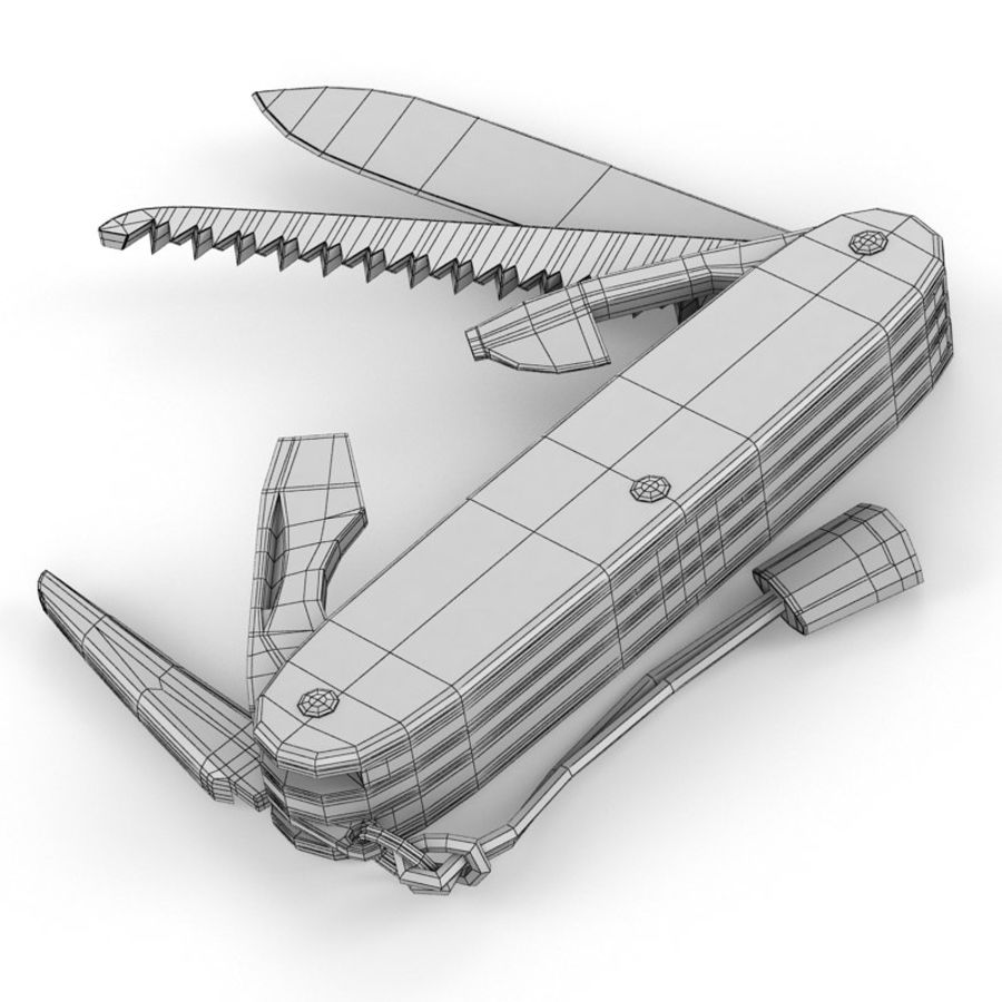 Swiss Army Knife royalty-free 3d model - Preview no. 19
