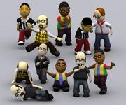 3DRT - Postacie Toonworld - Mężczyźni 3d model