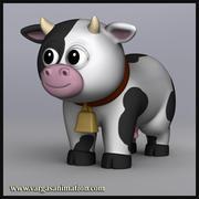 Dessin animé, vache 3d model