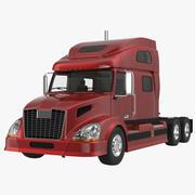 Semi Trailer Truck Rigged 3D Model 3d model