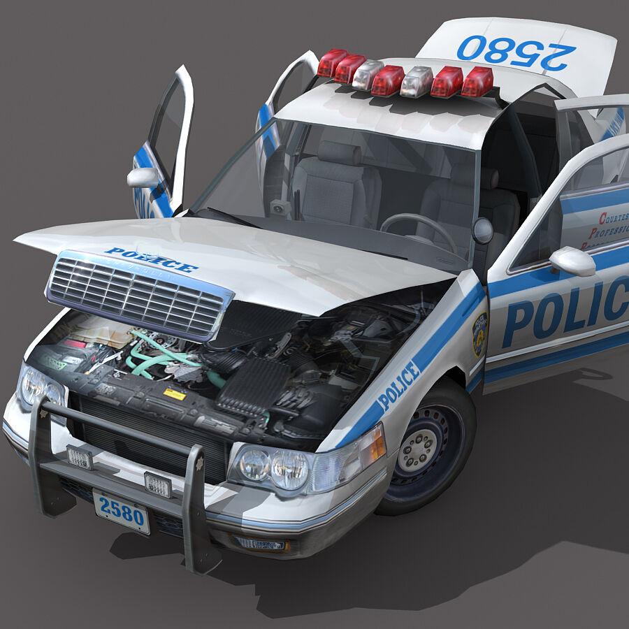 Auto della polizia di New York City royalty-free 3d model - Preview no. 4