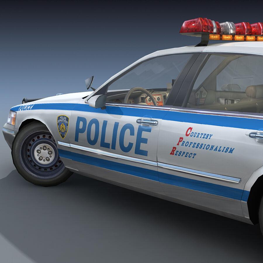 Auto della polizia di New York City royalty-free 3d model - Preview no. 10