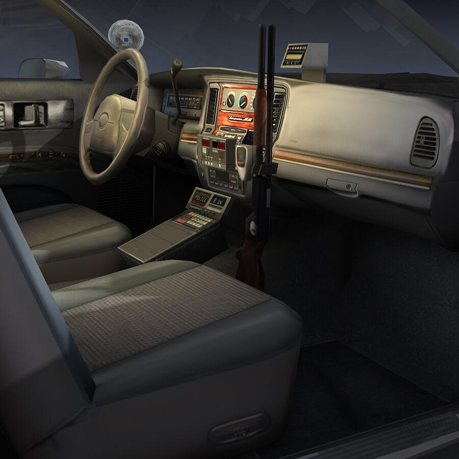 Auto della polizia di New York City royalty-free 3d model - Preview no. 19